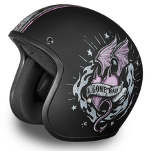 DOT Daytona Cruiser Gone Bad Open Face Motorcycle Helmet - SKU LL-DC6-GB-DH