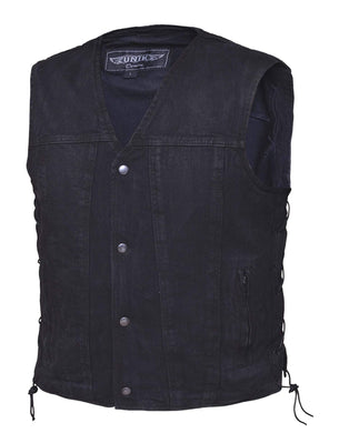 UNIK Men's Black Denim Vest