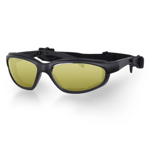 Daytona Goggles in Choice of Clear or Smoke or Yellow Lens - SKU LL-G-C-S-Y-DH - Leather Lollipop