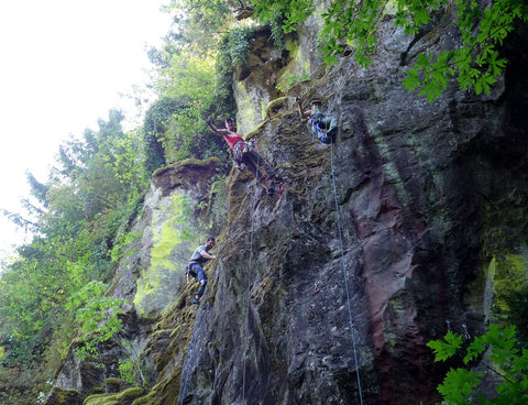 Broughton bluff Oregon climbing cleaning routes