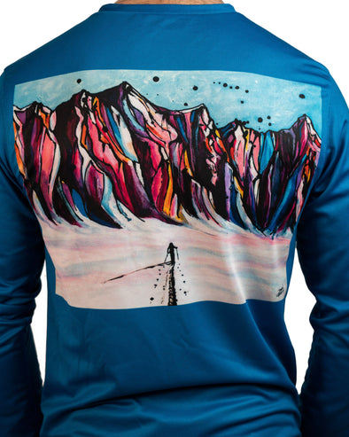"Men's ""Ski Dreams"" Long-sleeved Graphic Shirt"