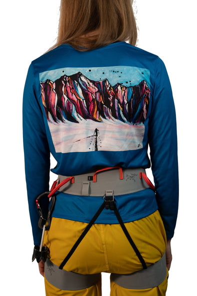 "Women's ""Ski Dreams"" Long-sleeved Graphic Shirt"