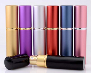 Wholesale 5ml Aluminium Coloured Refillable Mist Spray - (Case 5)