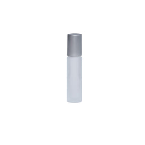 Wholesale 10ml Clear Frosted Bottle with Silver lid (Case 600)
