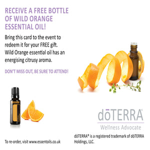 Wholesale dōTERRA Wild Orange Invitations A6 - English (Case 10)