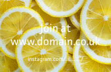 Business Card Lemon Design - Design Only