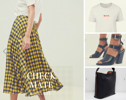 Clueless, 90's Clueless, Checked skirt, ASOS checked skirt, ASOS outfit, ASOS love, ASOS styling