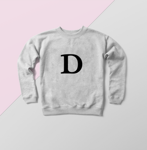 Alphabet sweater, personalised gifts, gifting for you, gifts for her, D sweater, sweater for D, sweats for her, sweaters for gifts