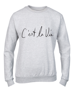 c'est la vie winter fashion slogan sweater