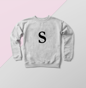 Alphabet sweat women's personalised sweater fashion jumper