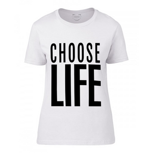 fashion tee, choose life, wham, george michael, t shirt, tees,