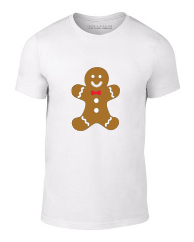 gingerbread man t-shirt, printed christmas t-shirt