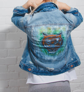 painted styles, fashion, painted denim, denim fashion, fashion, printed jacket, denim, 90's denim