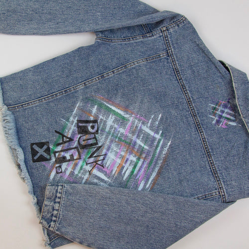 Punk AF Painted Denim Jacket | by Freckle Clothing