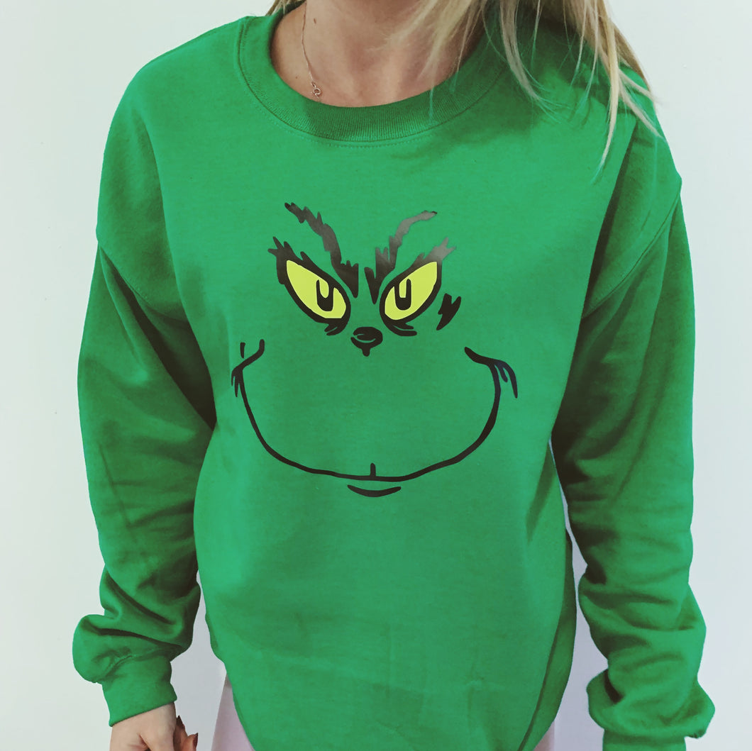 the grinch, christmas jumper, christmas sweater, xmas, festive,
