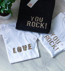 You Rock Leopard T-Shirt | by Freckle Clothing