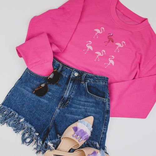 Flamingo Pink Sweater | by Freckle Clothing