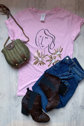 flower girl, pink, girls, womens t-shirt, womens fashion, fashion, style, ootd, blogger style, style your way, wear it with, style