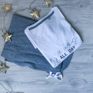 pyjamas all day, all day sleeping, sleeping all day, forever pjs, pjs for life, pjs are us, lounge wear, comfy clothing, christmas pjs