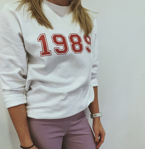 varsity birth year sweater, jumper, sweater, personalise