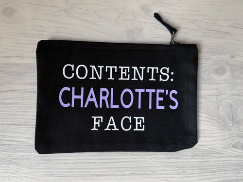 personalised gift, printed gift, personalised present, present, princess charlotte, charlotte, contents face, face, makeup, face makeup, girls guide