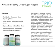 4 Month Supply of Advanced Healthy Blood Sugar Support Doctor Recommended, Helps Maintain Healthy Blood Sugar Levels, Provides Key Nutrients for Blood Sugar Regulation & Supports Normal Cellular Metabolism