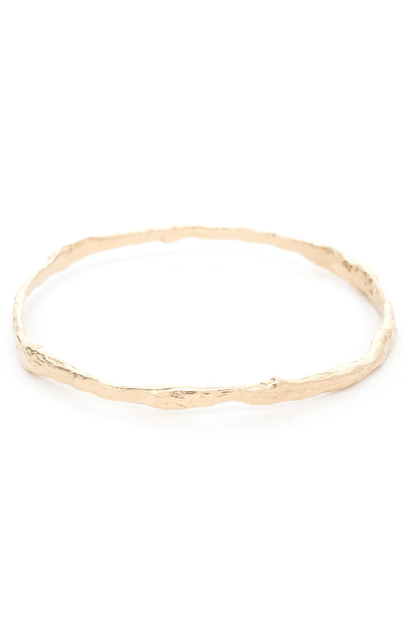 Branch Bangle in Yellow Gold