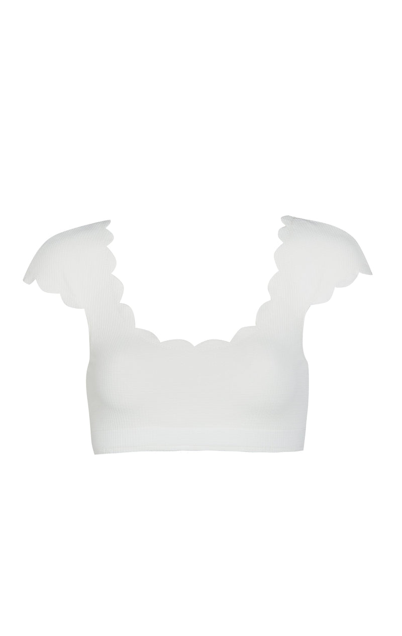 Scalloped Mexico Top in Coconut
