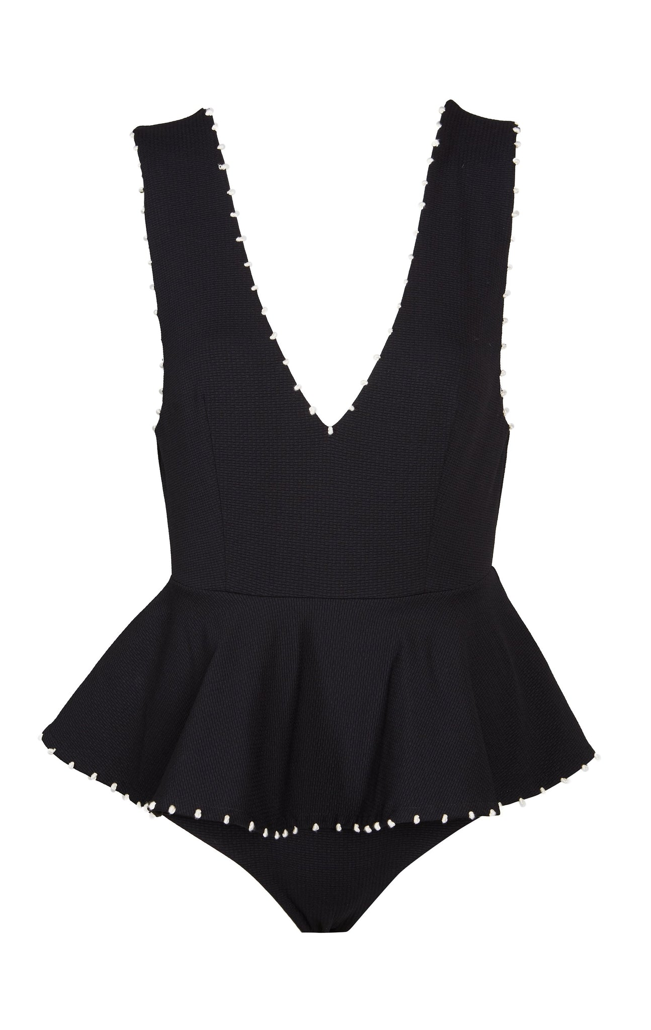 French Gramercy Maillot in Black/Coconut