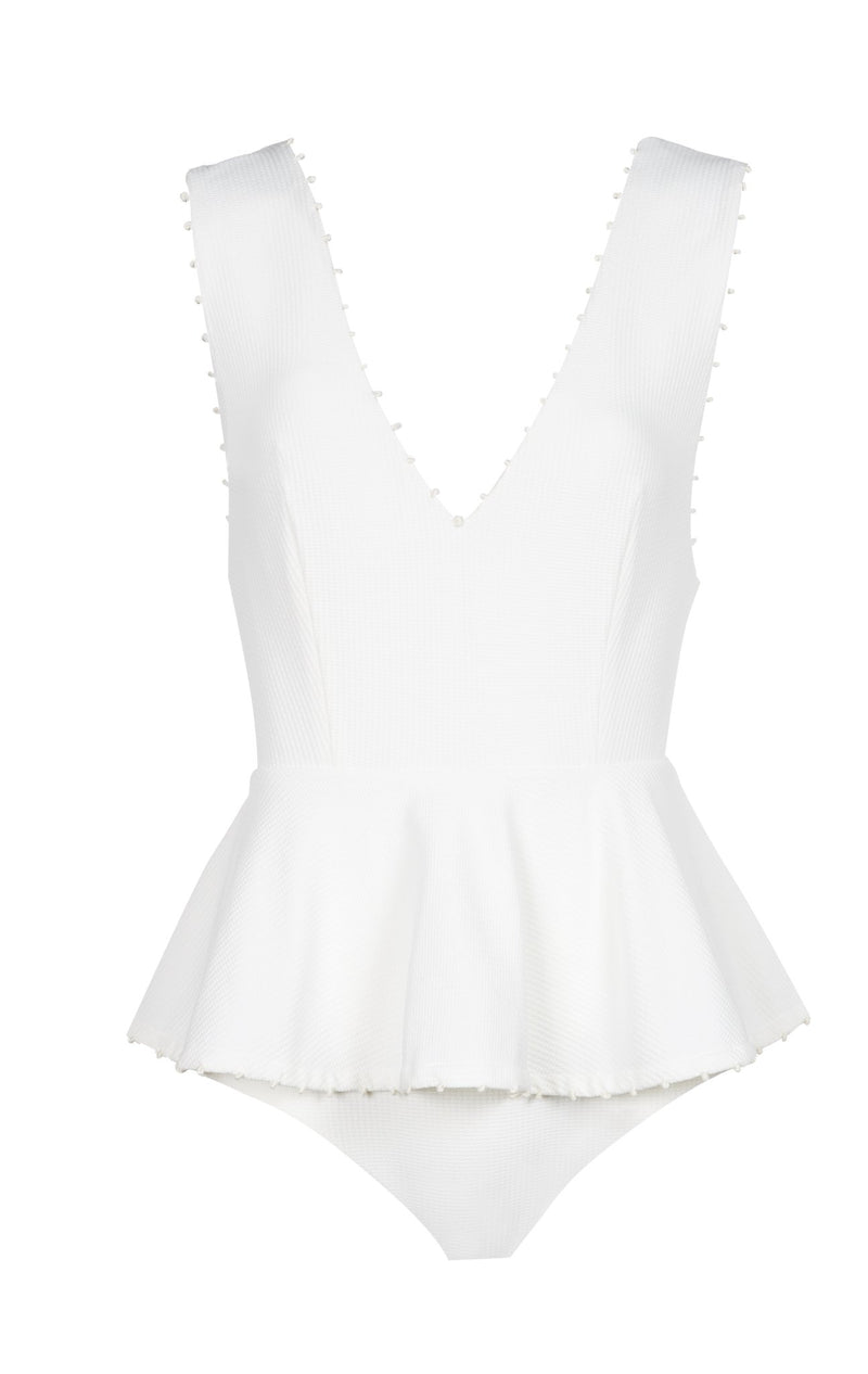 French Gramercy Maillot in Coconut