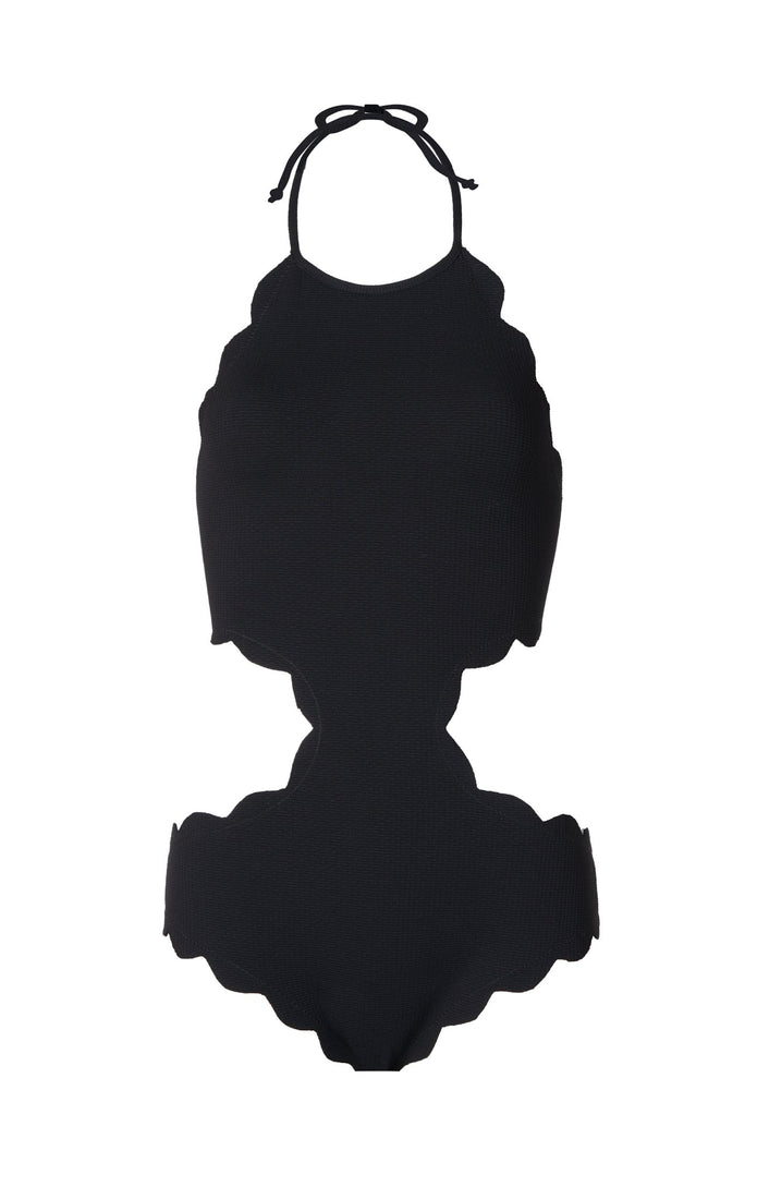 Mott Cutout Maillot in Black
