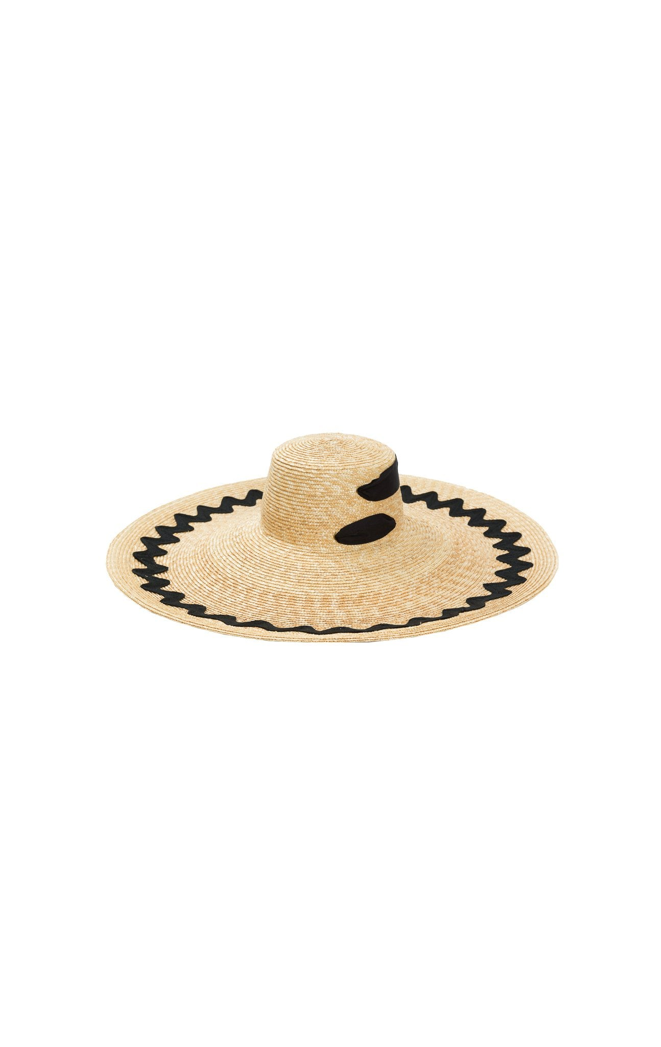 Provencal Hat in Natural/Black