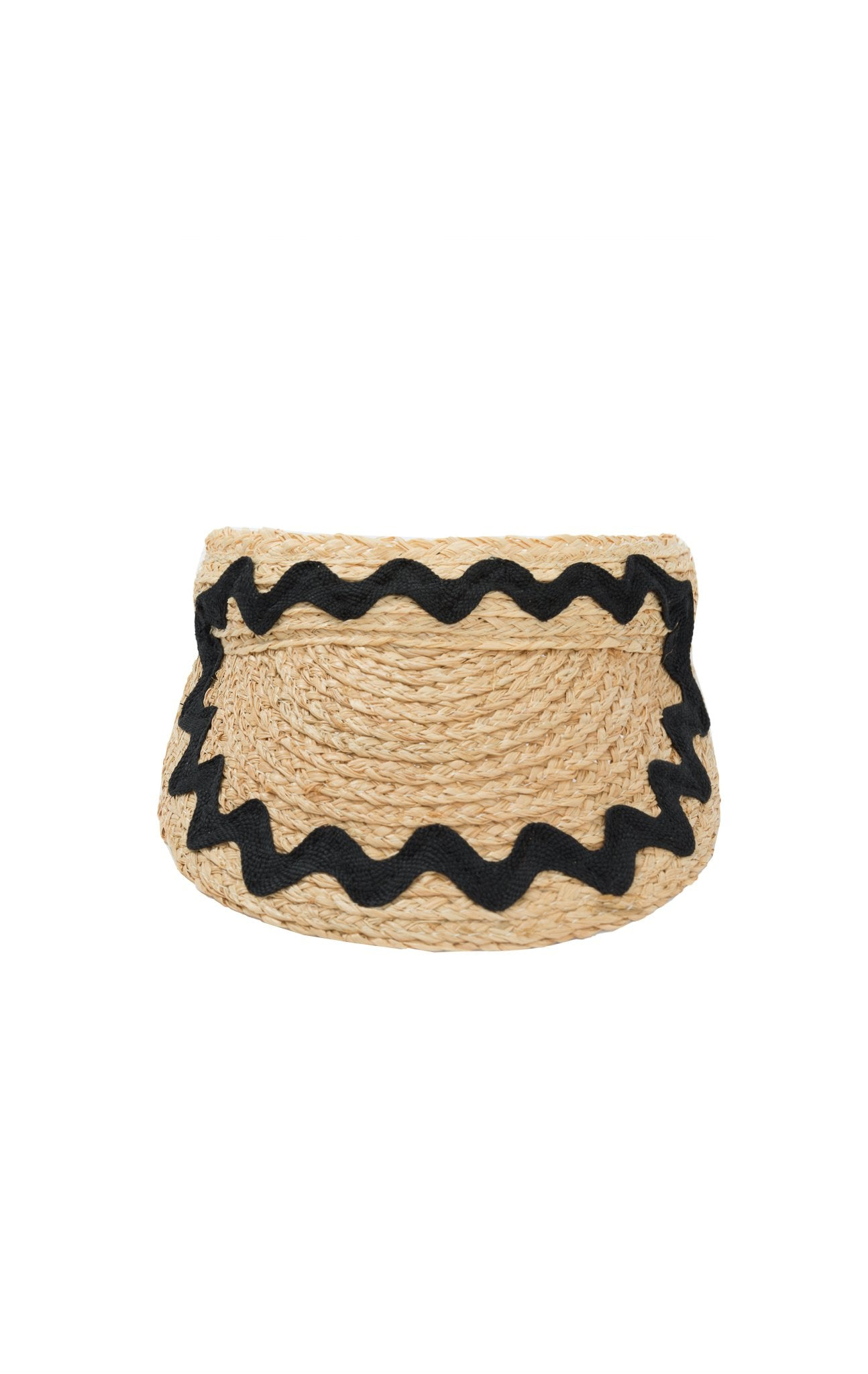Raffia Visor in Natural/Black