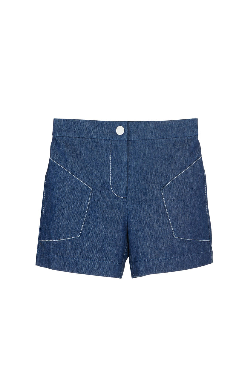 Bumby Jitney Shorts in Denim