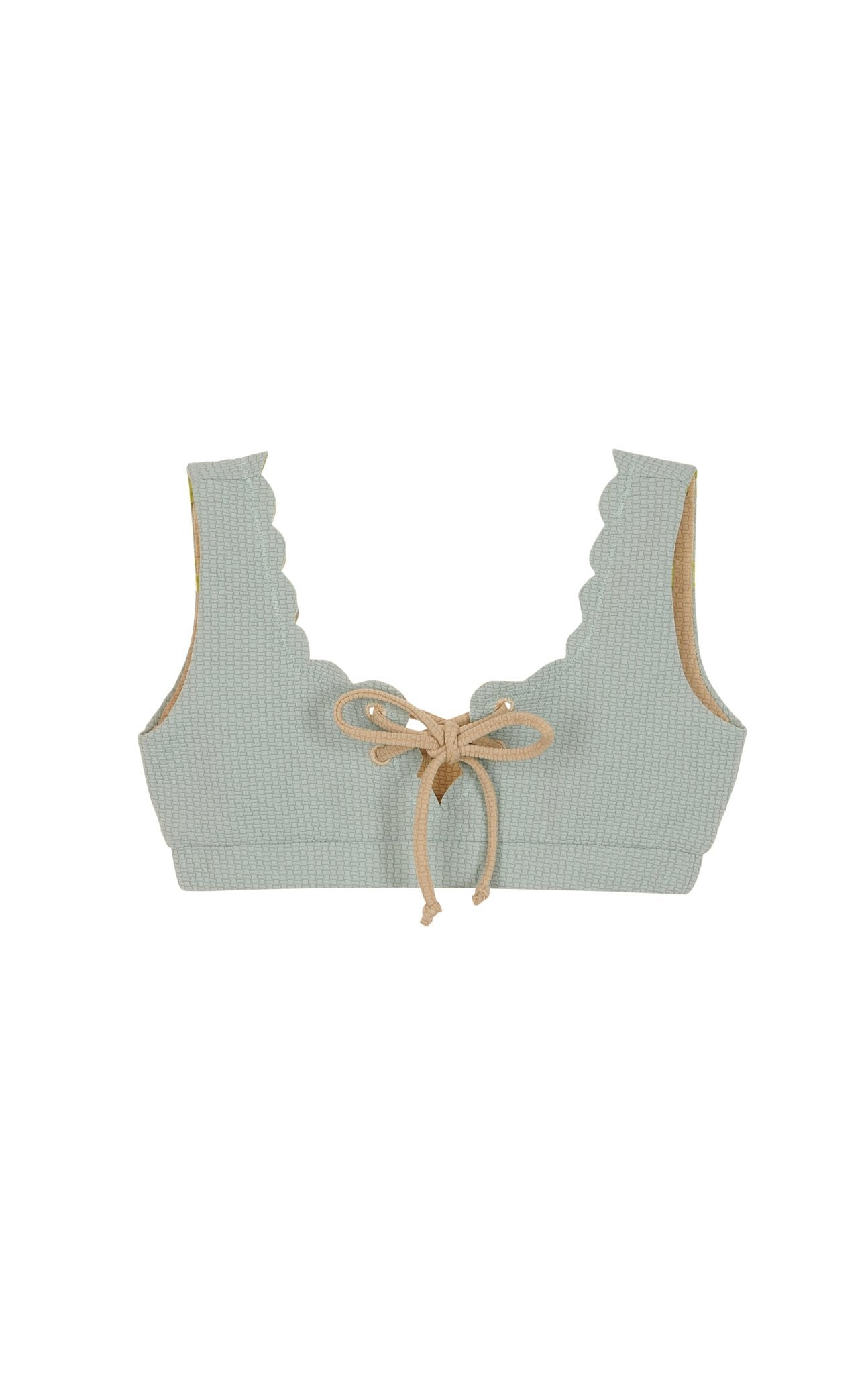 Bumby Palm Springs Tie Top in Aqua Grey