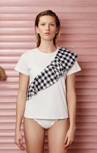 East End Top in Black Gingham