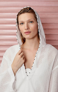 Hooded Tunic in Coconut