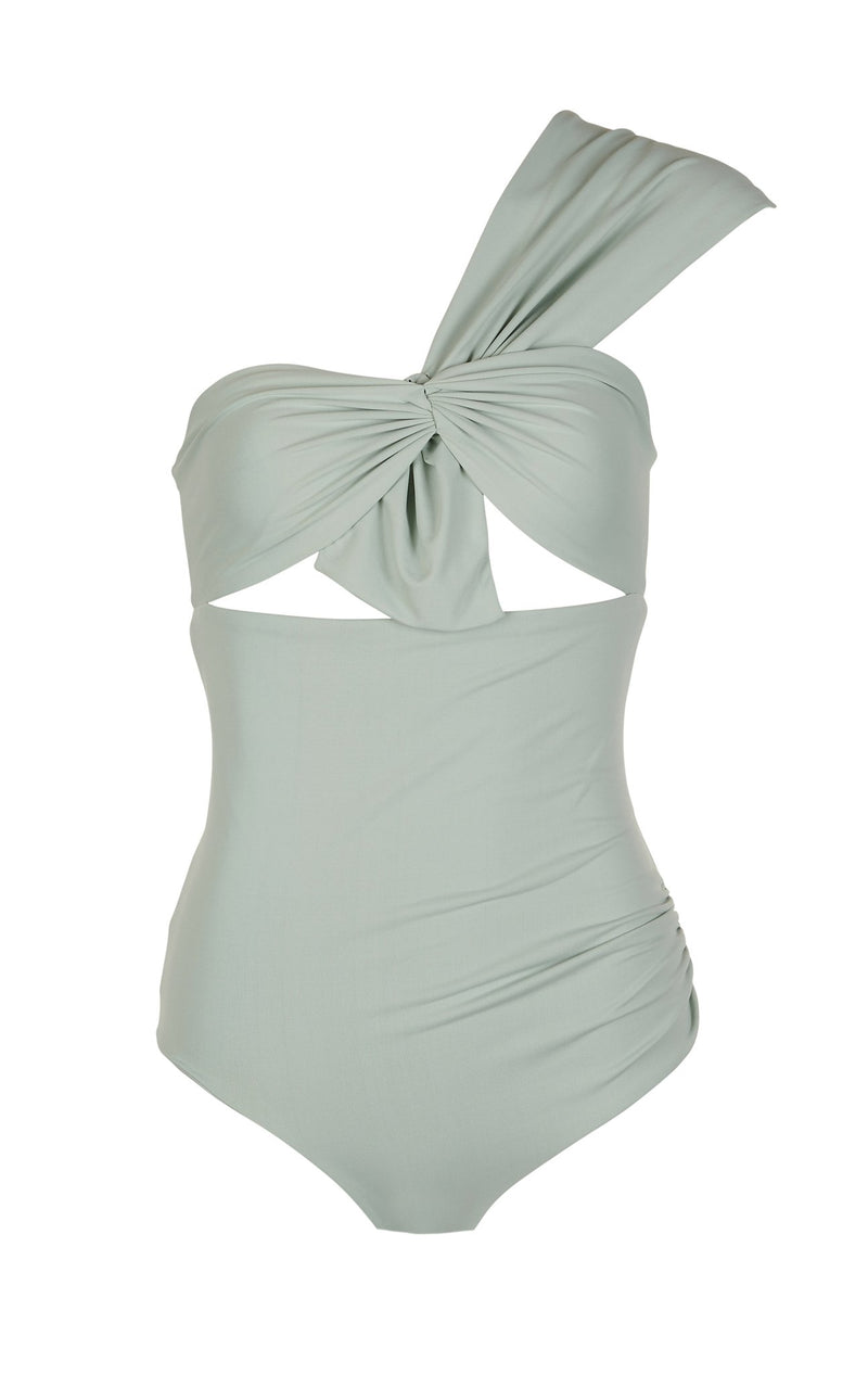 Venice Maillot in Aqua Grey