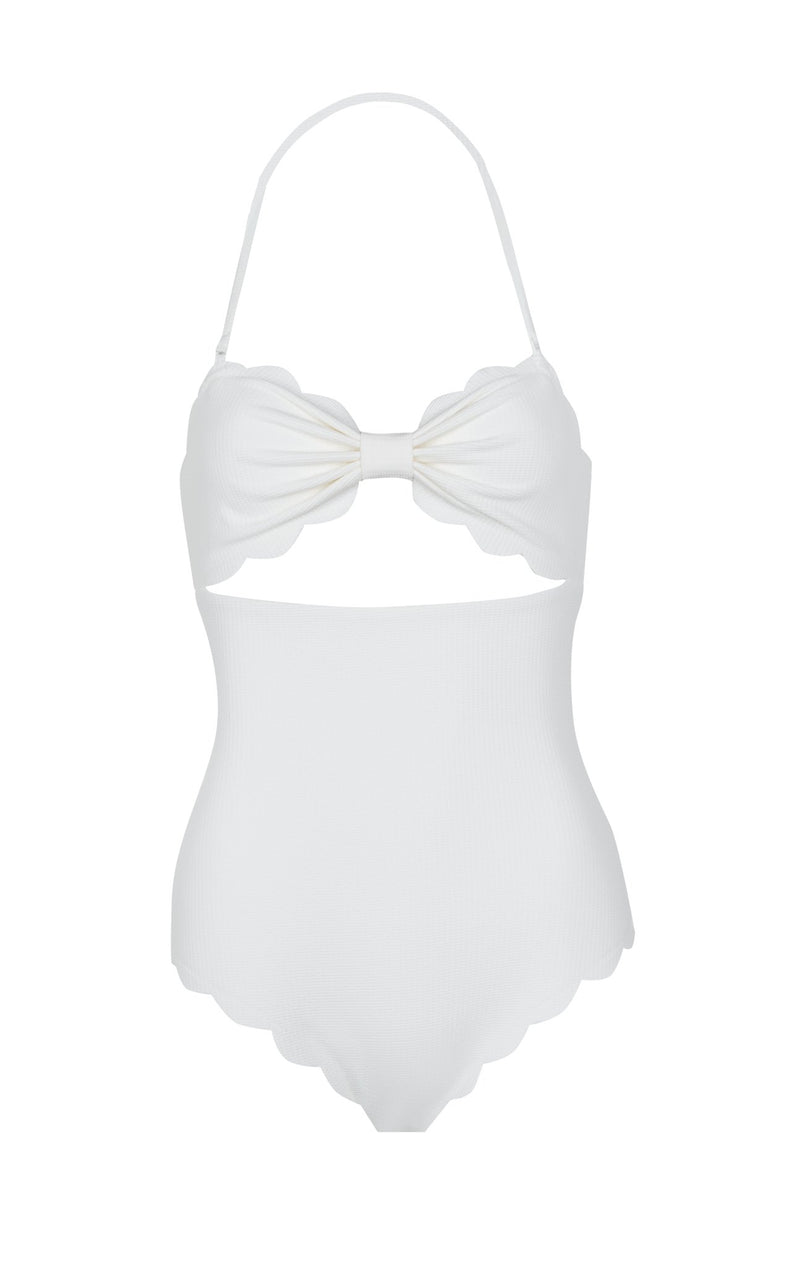 SWIMCLEAN Sustainable Antibes Maillot in Coconut