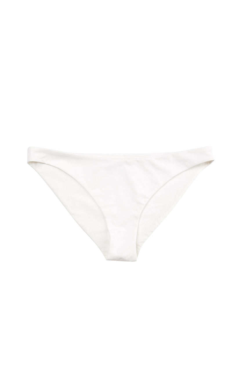 White bikini bottoms in an ultra smooth luxury fabric