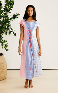 Shelter Dress in Multi Color Gingham