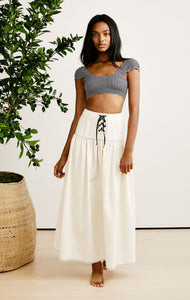 Northhaven Skirt in Off White
