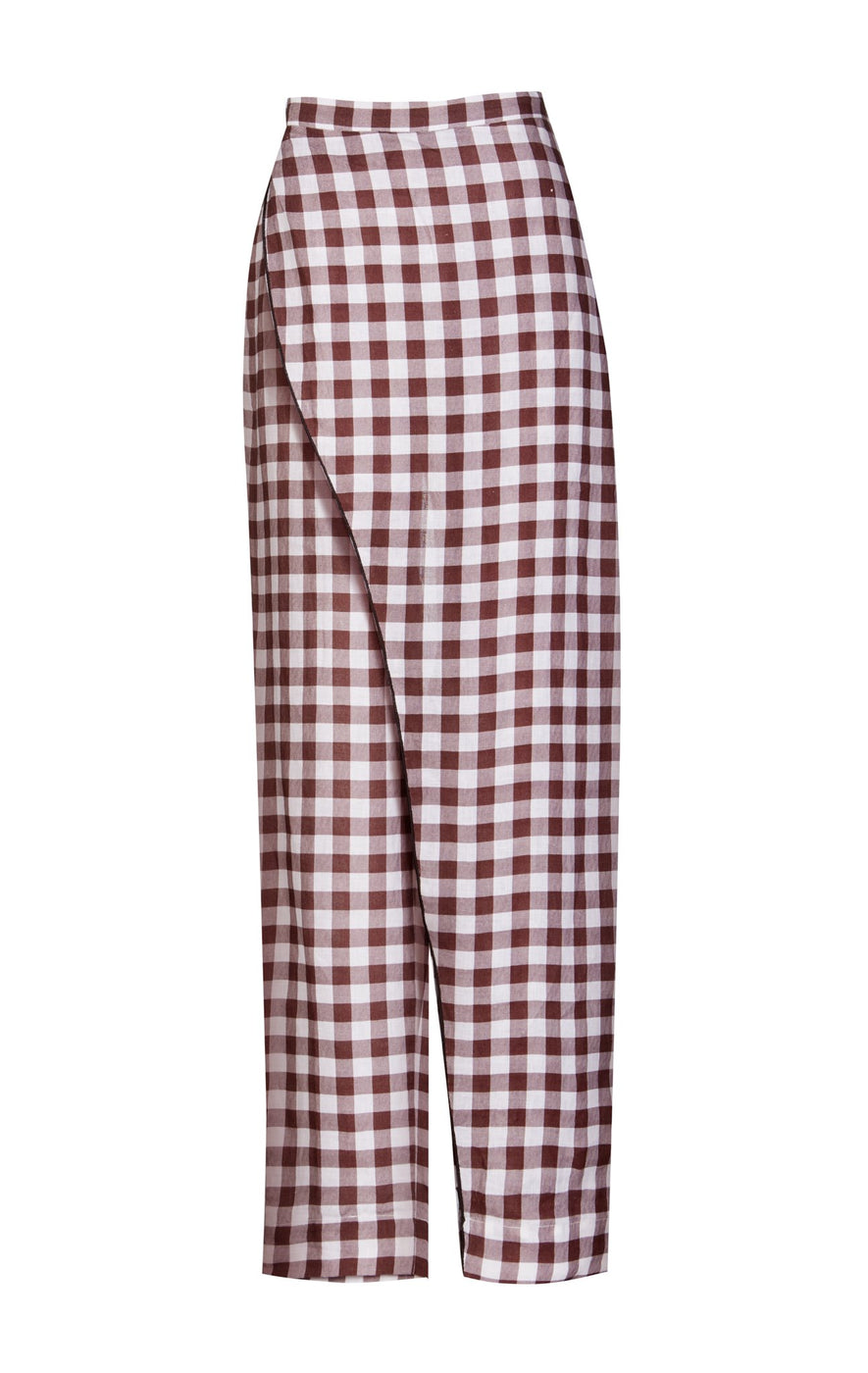Greenport Pants in Smores Gingham