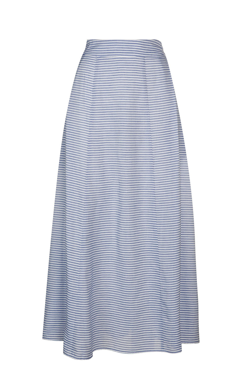 Naxos Skirt in Blue Stripe