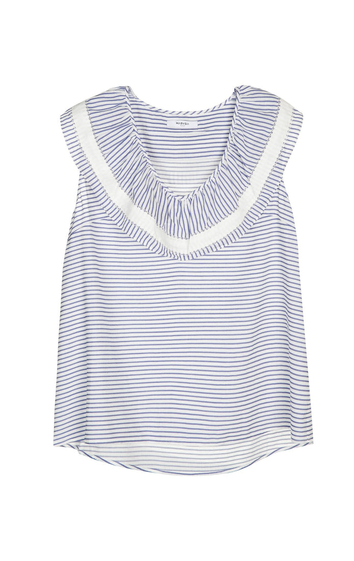 Zakynthos Top in Coconut Stripe