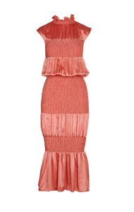 Lesbos Dress in Coral