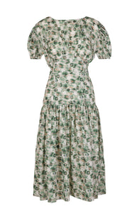 Ojai Dress in Sea Urchin Green Print