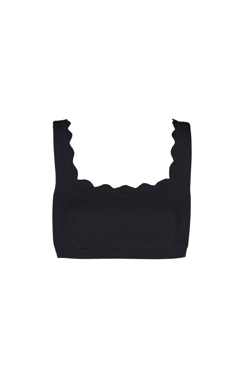 SWIMCLEAN Sustainable Palm Springs Top in Black