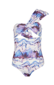 Venice Maillot in Electric Print