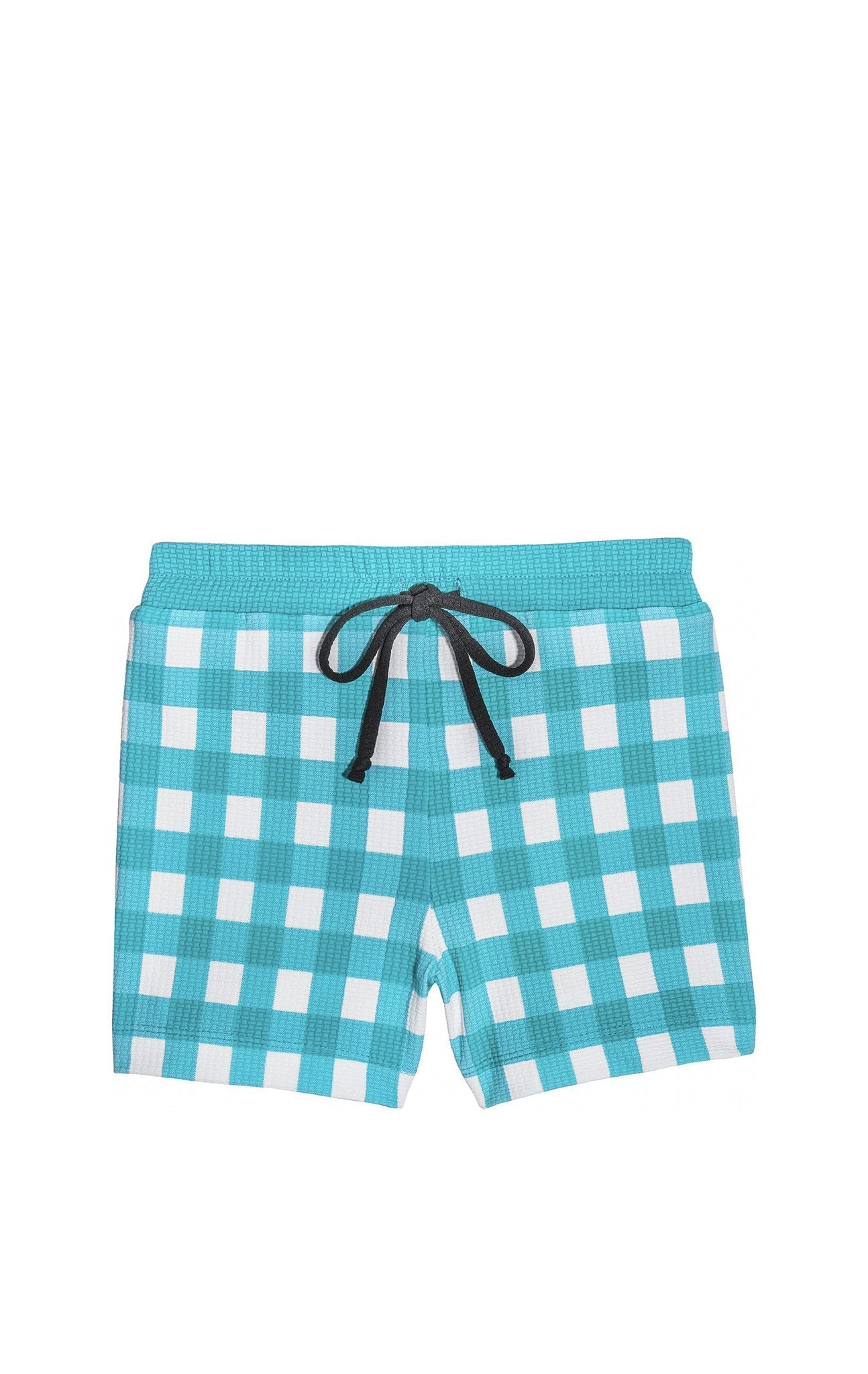 Bumby Boy Short in Mint Gingham